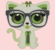 Kitten Nerd - Green Kids Clothes