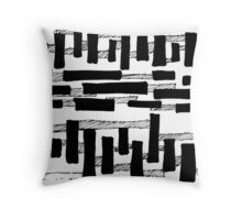 BW Logs Throw Pillow
