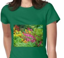Pink Bleeding Hearts - Preston Temple Grounds Womens Fitted T-Shirt