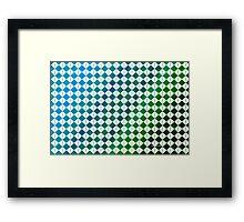 sdd Pattern 3K blue green tones Framed Print