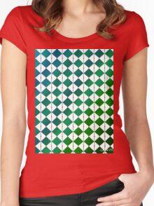 sdd Pattern 3K blue green tones Women's Fitted Scoop T-Shirt