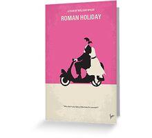 No205 My Roman Holiday minimal movie poster Greeting Card