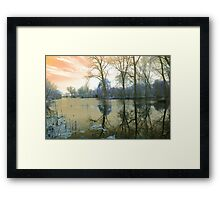 Reflection on The Channel Framed Print