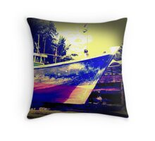 Fishery boat Throw Pillow