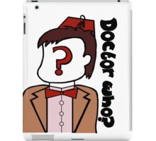 Doctor Who??? iPad Case/Skin