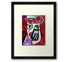 red spiral Framed Print