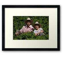 In The Bean Patch Framed Print