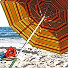 Beach Umbrella by Bernadette Claffey