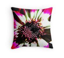 Red Flower Fractilius Throw Pillow