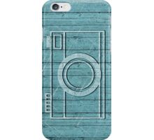 Wooden Teal Camera iPhone Case/Skin
