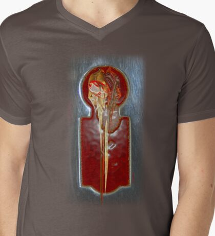 Her Circuits Contorted Mens V-Neck T-Shirt