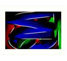 vivid abstract Art Print