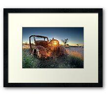 Old Wreck Framed Print