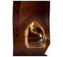 Buddha in Bagan Poster
