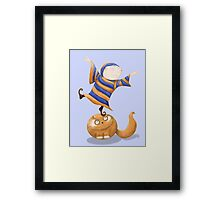 The Acrobat (and his cat). Framed Print
