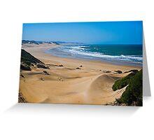 Endless,Cloudless Beach Greeting Card