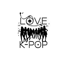 LOVE K-POP MUSIC Photographic Print