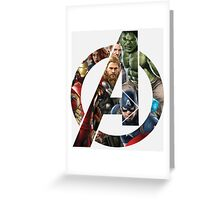 Avengers Symbol Greeting Card