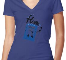 Hello Who? Women's Fitted V-Neck T-Shirt
