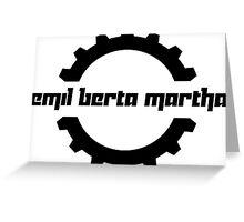 Emil Berta Martha Greeting Card