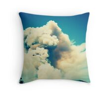 Forest Fire in Provence Throw Pillow