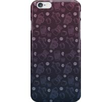 Can't Wait for the Morning pattern (blue/purple) iPhone Case/Skin