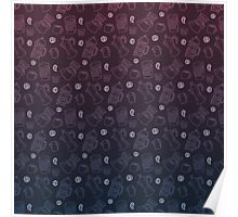 Can't Wait for the Morning pattern (blue/purple) Poster