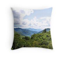 Mountains of Maggie Valley Throw Pillow