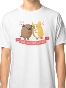 Paw-sitively Wuff-able Valentine's Day Card Classic T-Shirt