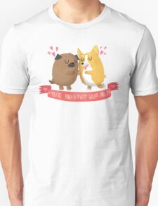 Paw-sitively Wuff-able Valentine's Day Card T-Shirt