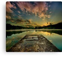 Sunrise over Jinolice Canvas Print