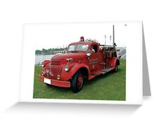1942 Chevrolet Fire Engine Greeting Card