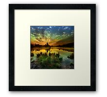 Sunrise over Jinolice Framed Print
