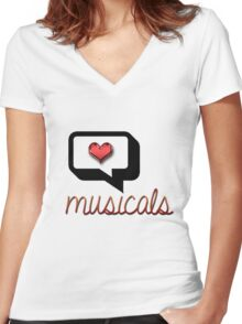 Love Musicals? Women's Fitted V-Neck T-Shirt