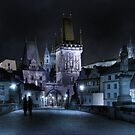 Tryst on Charles Bridge by Stevacek