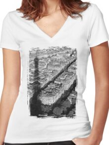 Famous Shadow Women's Fitted V-Neck T-Shirt