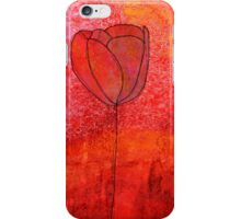 Single Tulip in Red iPhone Case/Skin