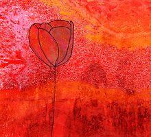Single Tulip in Red by jripleyfagence