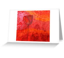 Single Tulip in Red Greeting Card