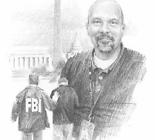 FBI retiree drawing by Mike Theuer