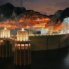 dam at night by Ted Petrovits