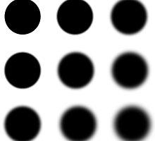 Grid of Gaussian blur circles by quietmole