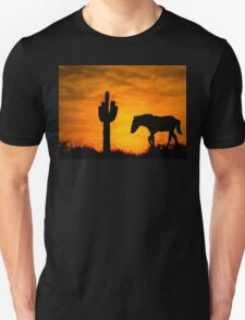 Lone Cactus and Horse T-Shirt