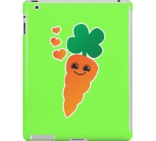 Cute kawaii orange carrot with cute hearts iPad Case/Skin