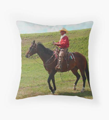 Range Cowboy Throw Pillow