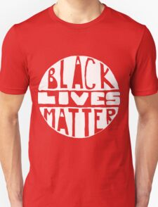 Black Lives Matter - Filled Black Background Unisex T-Shirt