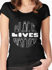 Black Lives Matter - Black Background Women's Fitted Scoop T-Shirt
