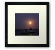 Shuttle Launch over river Framed Print