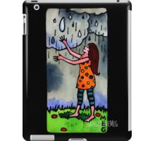 Girl Welcoming Rain iPad Case/Skin