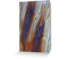 Blue Scars Greeting Card